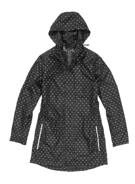 foldable raincoat black - 1000006259 - hema