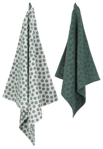 tea towel 65 x 65 cm theedoek green - 5410033 - hema