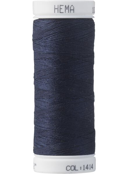 machinegaren machinegaren donkerblauw - 1422006 - HEMA