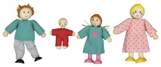 famille de 4 poupées en bois pour maison de poupées - 15130058 - HEMA