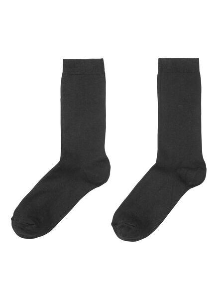 2-pack women's modal socks black black - 1000001675 - hema