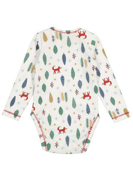 newborn bodysuit organic cotton stretch off-white off-white - 1000016577 - hema