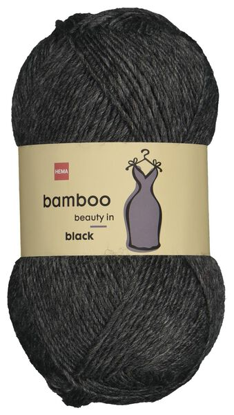 yarn wool bamboo 100 grams black - 1400222 - hema