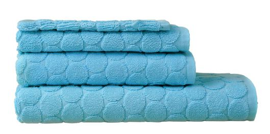 towel - heavy quality - aqua dotted aqua - 1000013925 - hema
