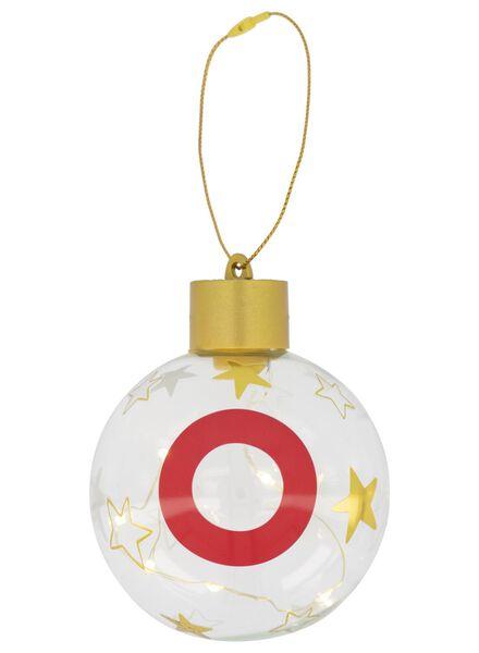 LED Christmas ball glass Ø 8 cm letter O gold O - 25500054 - hema