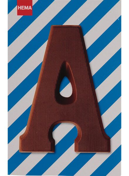 milk chocolate letter A - 10033000 - hema