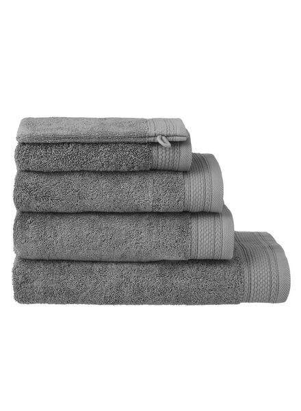 handdoeken - hotel extra zwaar donkergrijs donkergrijs - 1000015164 - HEMA