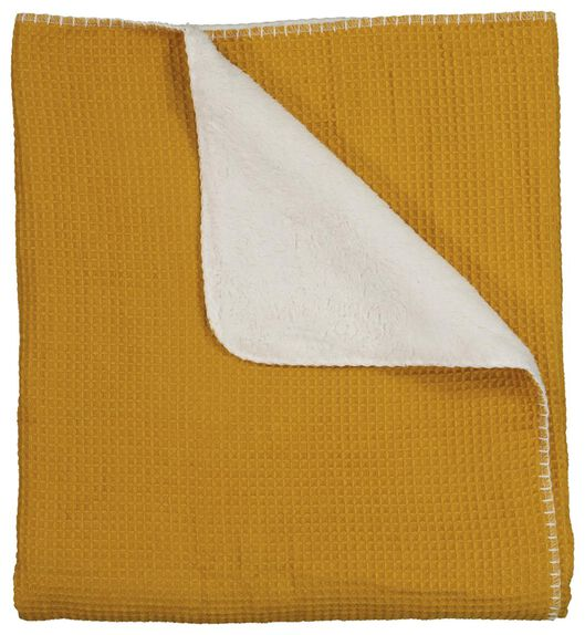 throw honeycomb 130x150 - sherpa - yellow - 7322021 - hema