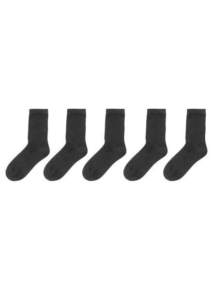 5 paires de chaussettes femme noir noir - 1000001663 - HEMA