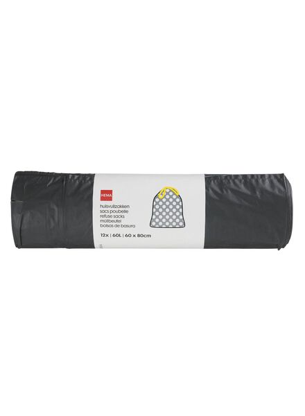 Image of HEMA 12-pack Dust Bin Bags 60 L