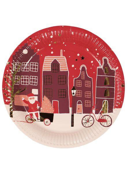 papieren bordjes kerst Ø 23 cm - 10 stuks - 25600021 - HEMA