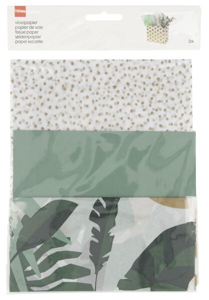 3 feuilles de papier de soie - 70x50 - 14700335 - HEMA