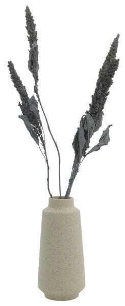 vase Ø3.5x15 structure earthenware white - 13311082 - hema