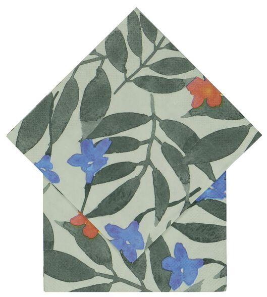 20er-Pack Servietten, 24 x 24 cm, Papier, Pflanzen - 14200441 - HEMA