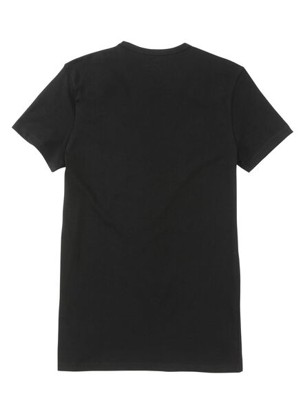 2-pack regular fit men's T-shirts extra long black black - 1000005786 - hema
