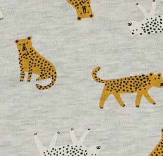 baby sleeping bag non-padded - removable sleeves - tigers grey melange grey melange - 1000017642 - hema