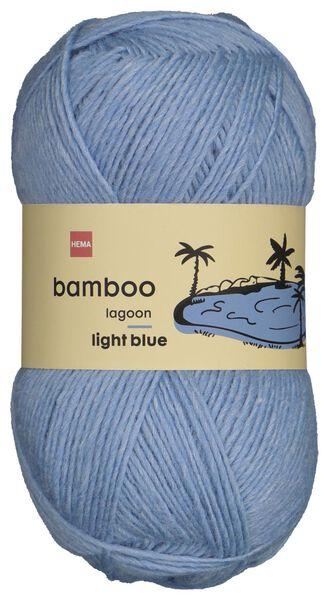 fil de laine bambou 100g bleu - 1400227 - HEMA