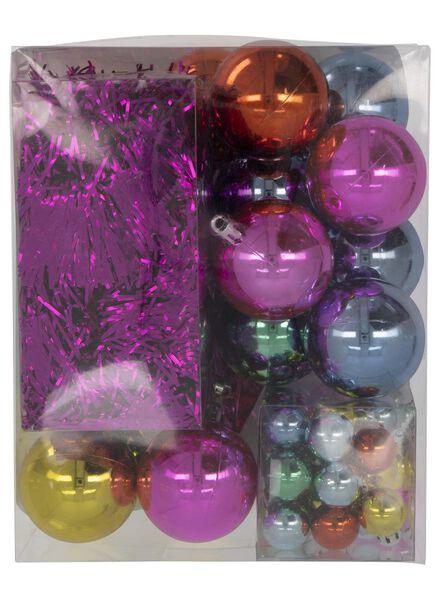 54 éléments de décoration sapin de Noël colorés - 25100932 - HEMA