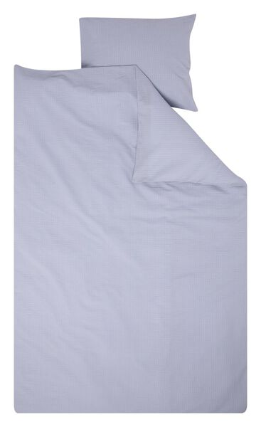 duvet cover - cotton seersucker light blue light blue - 1000018698 - hema