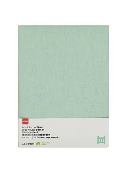 Kinder-Bettlaken – 60 x 120 cm – mintgrün - 33348243 - HEMA