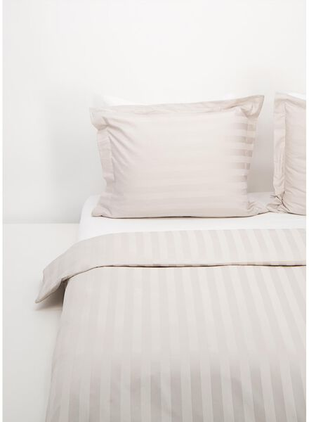 duvet cover - hotel cotton satin sand sand - 1000016593 - hema