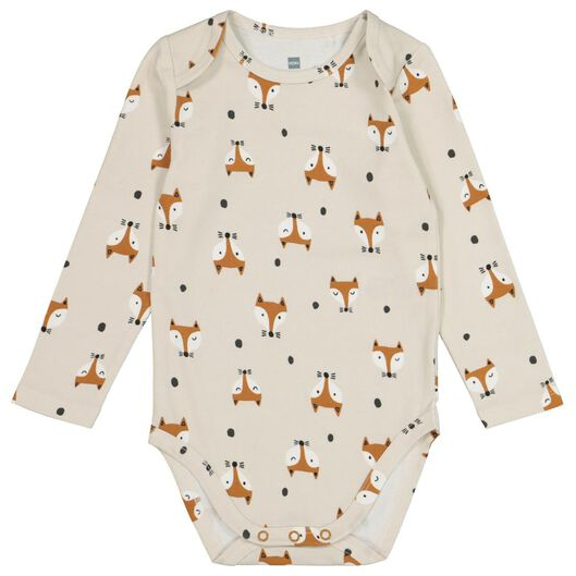 bodysuit organic cotton stretch fox sand sand - 1000020434 - hema