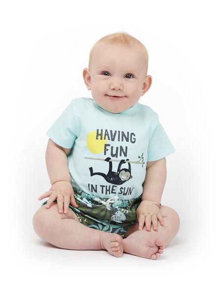 HEMA Newborn Baby Pluderhose Blau