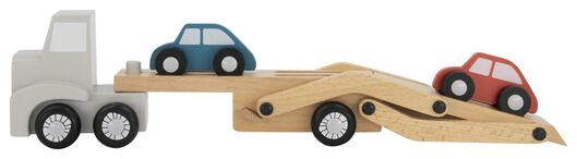 Holz-Autotransporter mit Autos - 15130112 - HEMA