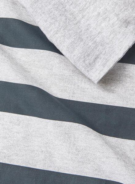 housse couette-coton doux/chambray-240x220cm-rayée noir gris noir 240 x 220 - 5700022 - HEMA