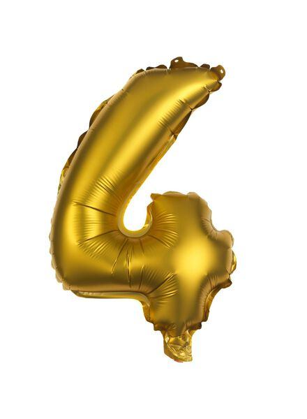 foil balloon 4 - gold 4 gold - 60800504 - hema
