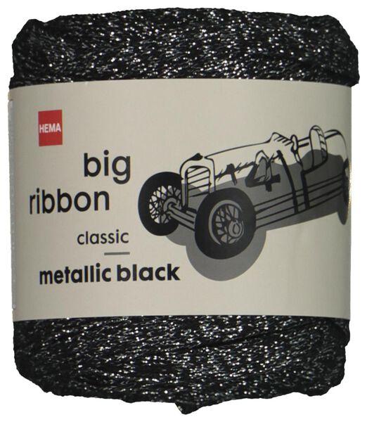 Bändchengarn, 24 m, Metallic, silber schwarz Big Ribbon - 1400211 - HEMA