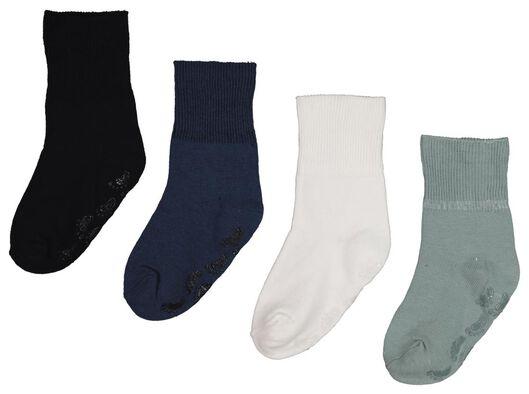 4-pack baby socks blue blue - 1000018969 - hema