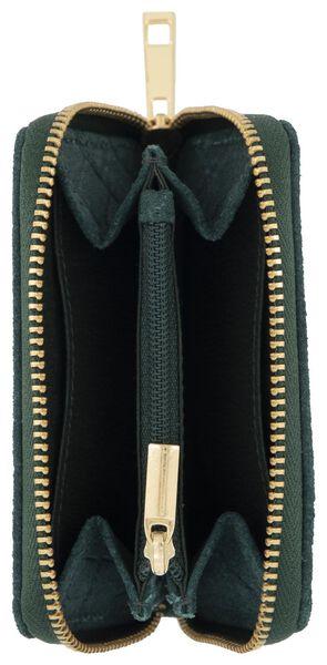 portemonnaie 7.5x11 croco vert - 18120077 - HEMA
