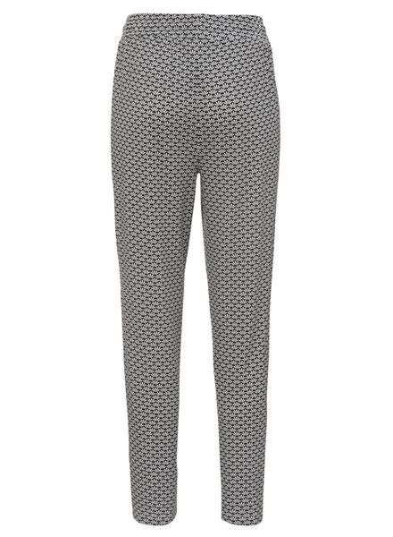 women's trousers black/white black/white - 1000007640 - hema