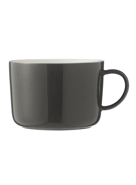 cappuccino mug - 330 ml - Chicago - dark grey 330 ml dark grey - 9680053 - hema
