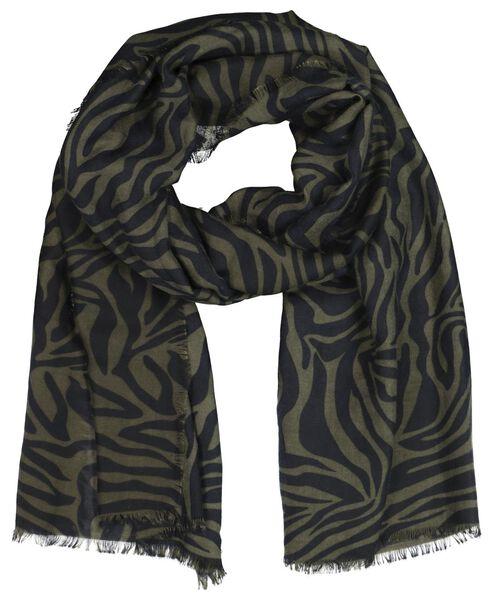 damessjaal 200x80 groen zebra - 1790015 - HEMA