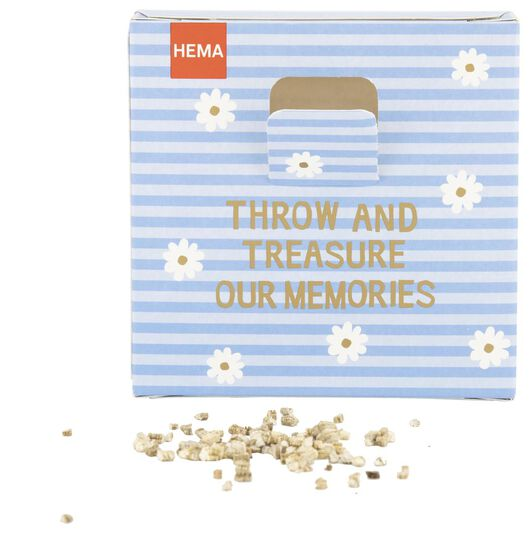 confetti graines de fleurs throw & grow - make some memories - 41810084 - HEMA
