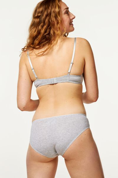 hipster panties second skin cotton grey melange grey melange - 1000018634 - hema