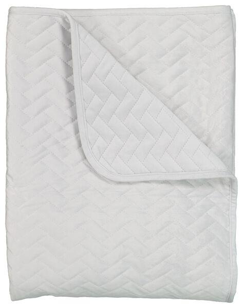 bedspread - velvet grey grey - 1000021776 - hema