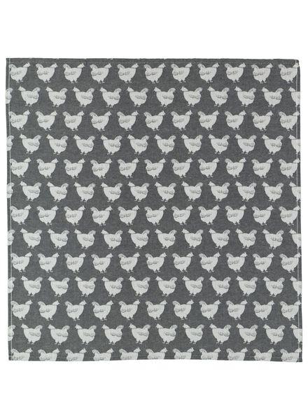 torchon 65x65 poules - 5400113 - HEMA