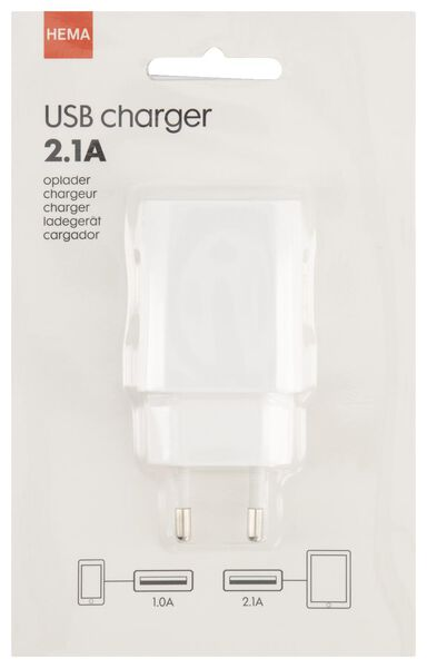 chargeur USB 2.1A blanc - 39650301 - HEMA