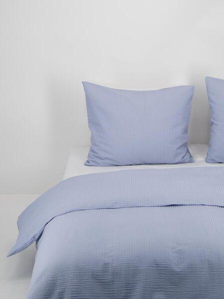 duvet cover - soft cotton - structure light blue light blue - 1000020019 - hema