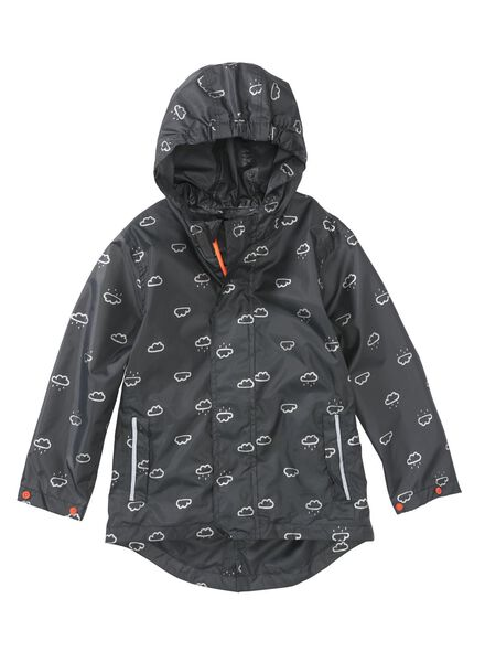 foldable children's raincoat grey grey - 1000006273 - hema