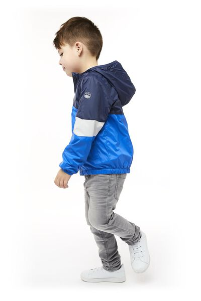 children's jacket with a hood mid blue mid blue - 1000017752 - hema