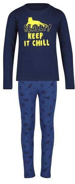 Kinder-Pyjama blau blau - 1000018471 - HEMA