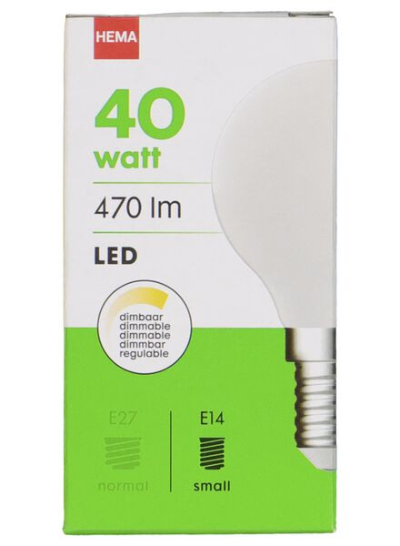 LED light bulb 40W - 470 lm - bullet - matt - 20020034 - hema