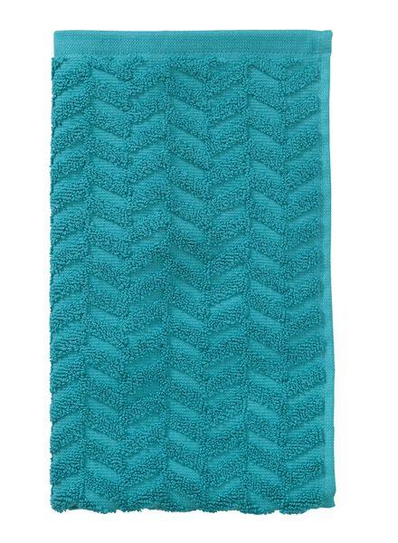 guest towel - 30 x 55 cm - heavy quality - dark green zigzag dark green guest towel - 5200062 - hema