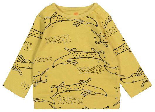 baby sweater yellow yellow - 1000017526 - hema
