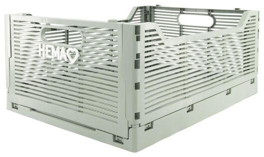 caisse pliante tableau recyclée 30x40x17 - argile - 39821036 - HEMA