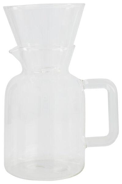 HEMA Kaffeekanne Koffiebinkie Mit Filter, Glas, 0.6 Liter